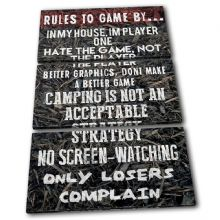 Gaming COD House Rules Typography - 13-2366(00B)-TR32-PO